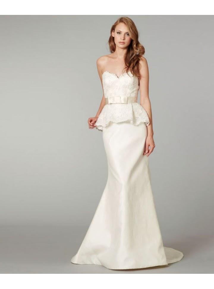 Vestido de Novia Elegante, Dos Piezas, Strapless, Escote V