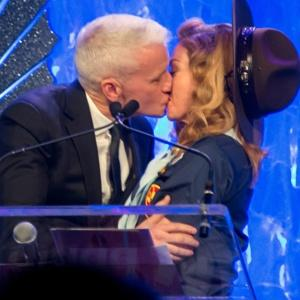 Madonna Kisses Anderson Cooper at the GLAAD Awards