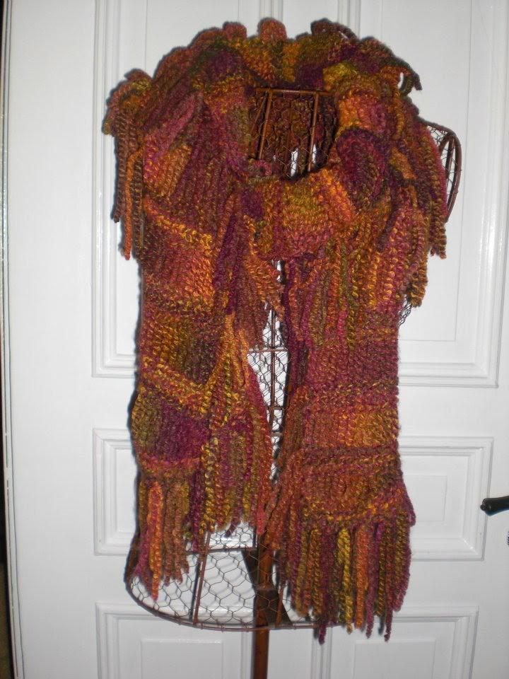 strikket halstørklæde