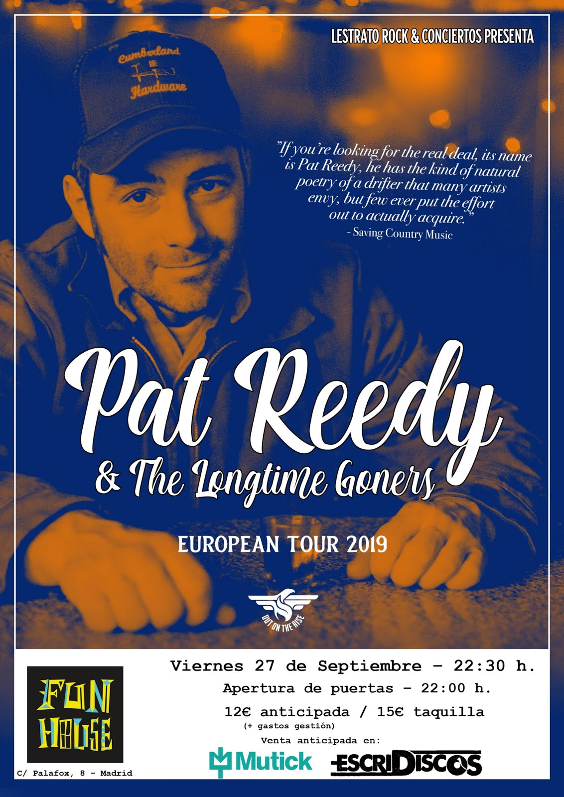 Pat Reedy & The Longtime Goners - Fun House (Madrid) - 27/09/2019
