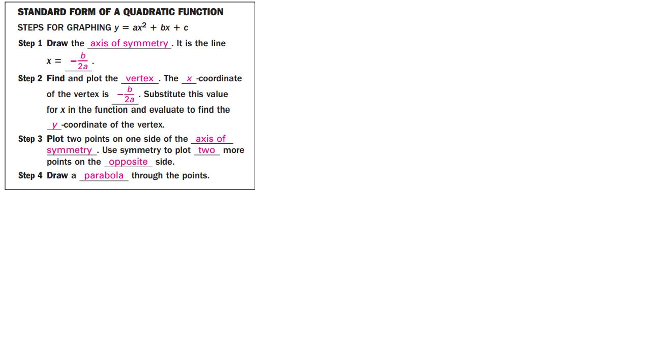 Pre calculus 40s winter 2013 section cb february 2013 example plot fx 2x2 12x 16 falaconquin