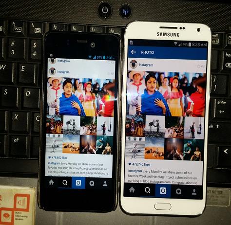 Samsung Galaxy E7 Screen