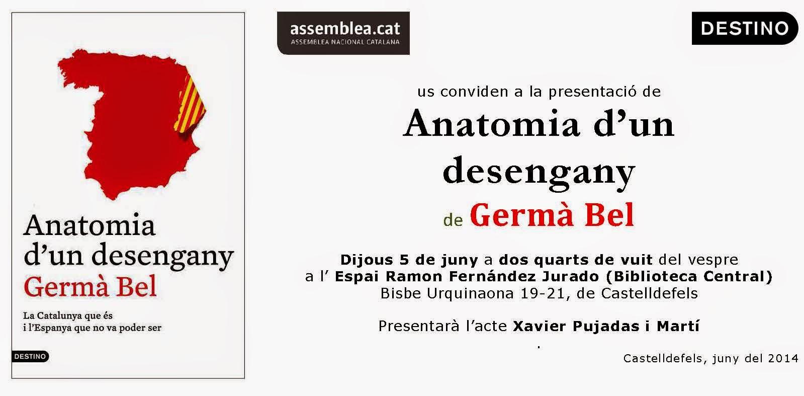 Noticias de Castelldefels: Germà Bel presenta el seu llibre ANATOMIA ...