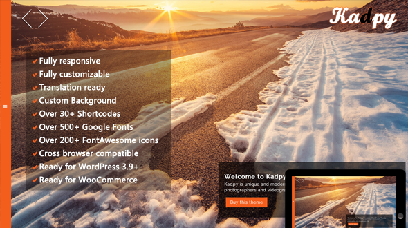 download Kadpy - Mojothemes Responsive FullScreen WordPress Theme