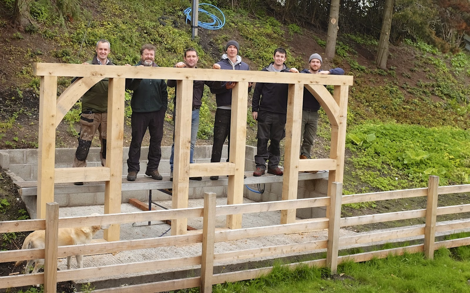 An Acre in Hampshire: Green Oak Framing Course