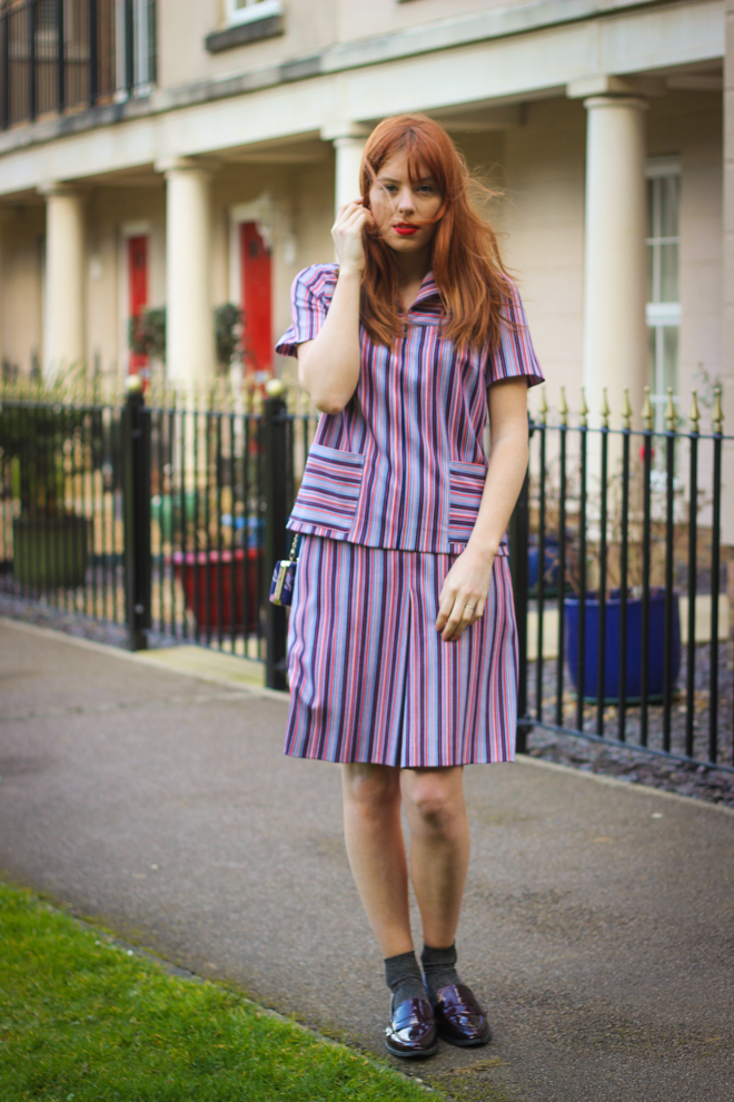 60s vintage summer striped two piece / co ord - UK Fashion Blogger The Goodowl
