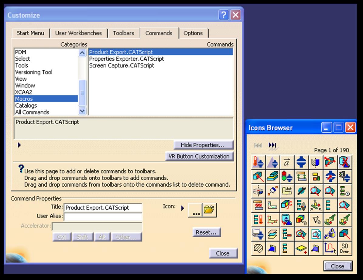 cad systems help how to add amacro icon to a toolbar in catia v5 rh cadsystemshelp blogspot com Access VBA Macro VBA Macro UI