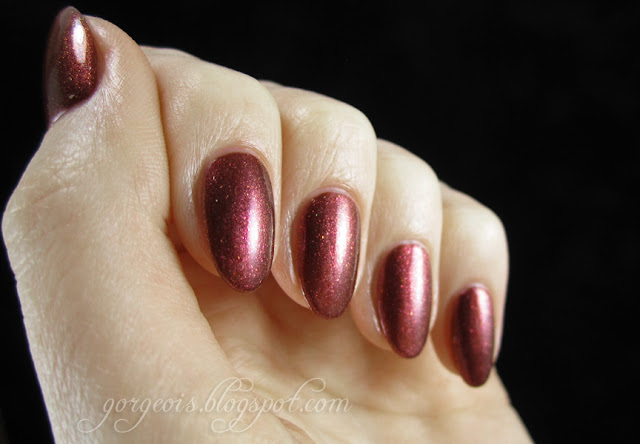 OPI DS Jewel and CND Crimson Sparkle