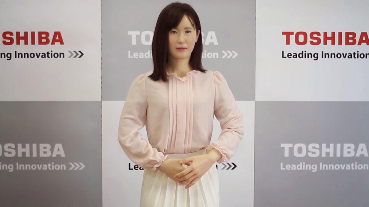 توشيبا تقدم Aiko Chihara الروبوت الشبيه بالبشر