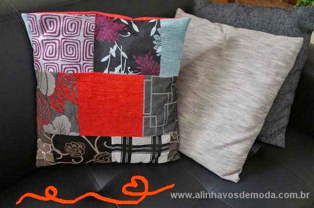 Almofada fácil para aproveitar retalhos e sobra de tecidos