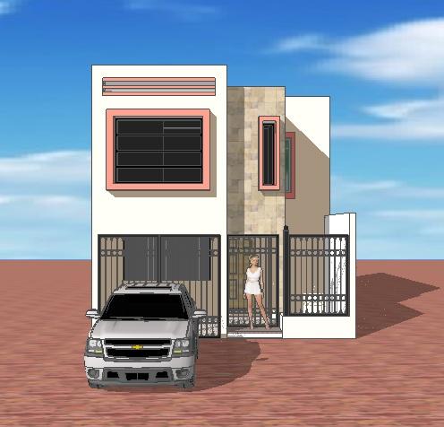 Fachadas y casas grandes dise os para fachadas de casas for Fachadas de casas de 5 metros de ancho