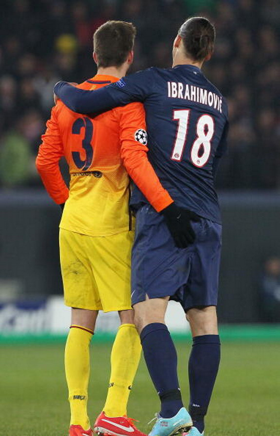 No love lost between Zlatan & Piqué