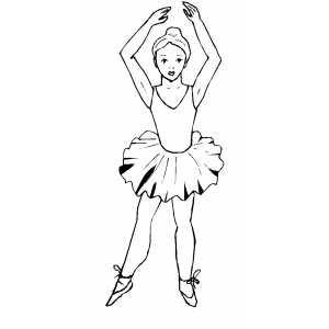 Professional Ballet Dancer Coloring Page