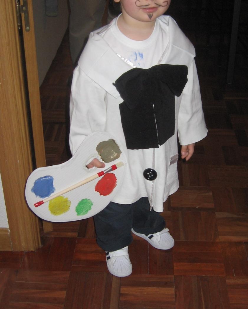 Chimp n y se cosi disfraces casero de pintor - Batas de casa para ninos ...