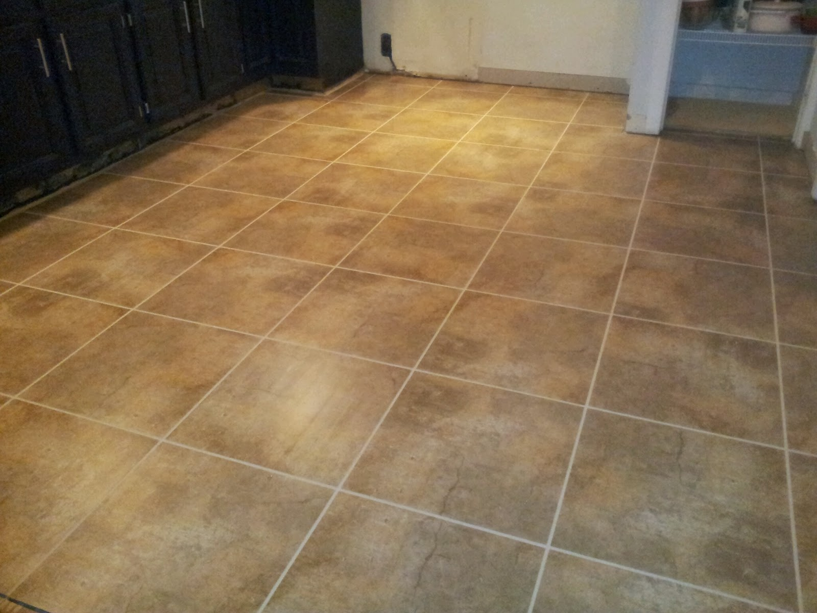 Kitchen Tile Grouting
