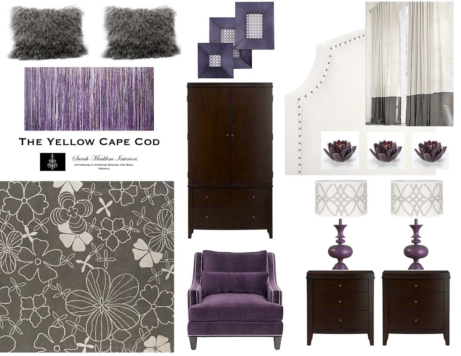Purple Bedroom Master Bedroom The Yellow Cape Cod Dramatic Master Bedroom Makeoverbefore And After