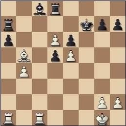 Partida Pomar-Ribeiro en el II Encuentro Ibérico de Ajedrez 1946, posición después de 29.b4!