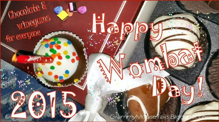 Wombania-wombat day-celebrate-chocolate-grammymousetails