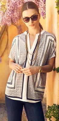 pantalón tejano y camiseta mujer Massimo Dutti primavera verano 2013