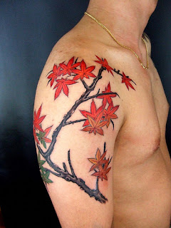 cool leaf tattoo for men