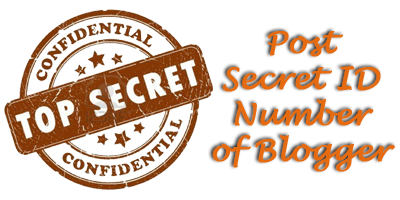 How to Find Your Post's Secret ID Number in Blogger