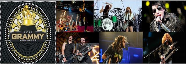 Nominados Grammy 2013 Categoria Metal Hard Rock
