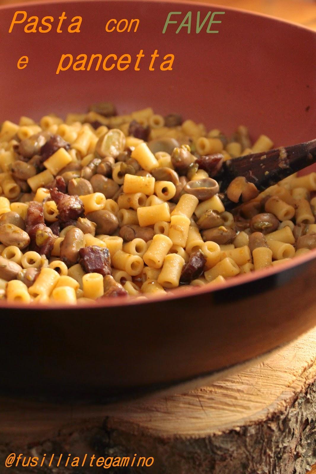 pasta con fave e pancetta