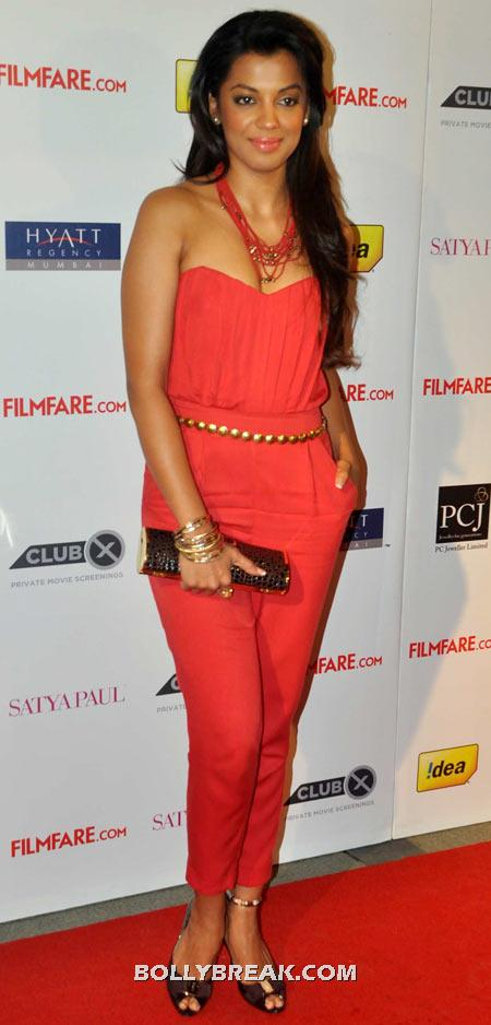 Mugdha Godse Coral Dress - (9) - Celebrity Pictures in Neon Dresses - Bollywood, Hollywood