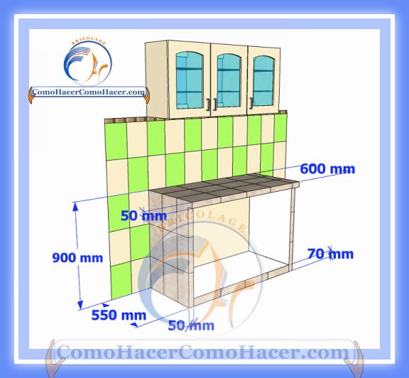 Cocina mesada de concreto gu a detallada para colocar for Medidas de gabinetes de cocina