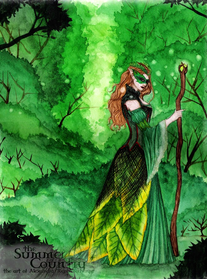 Lady of The Forest by Enchanted Visions Artist, Alexandra Rena