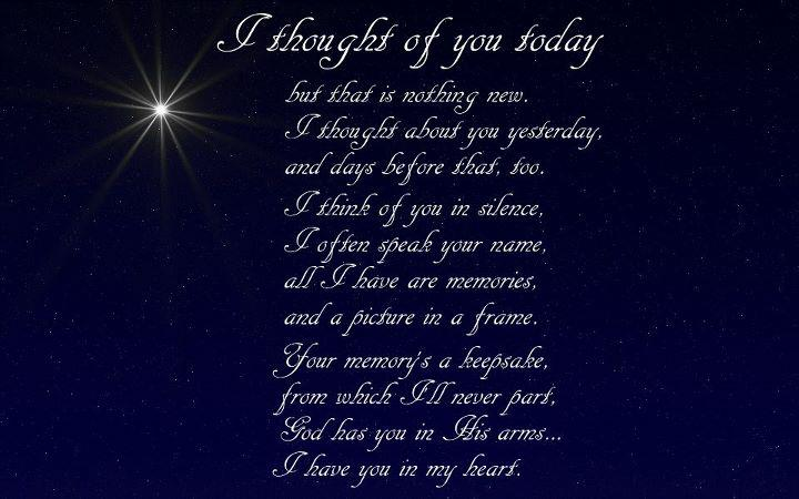 Think about you everyday i love you and i always will