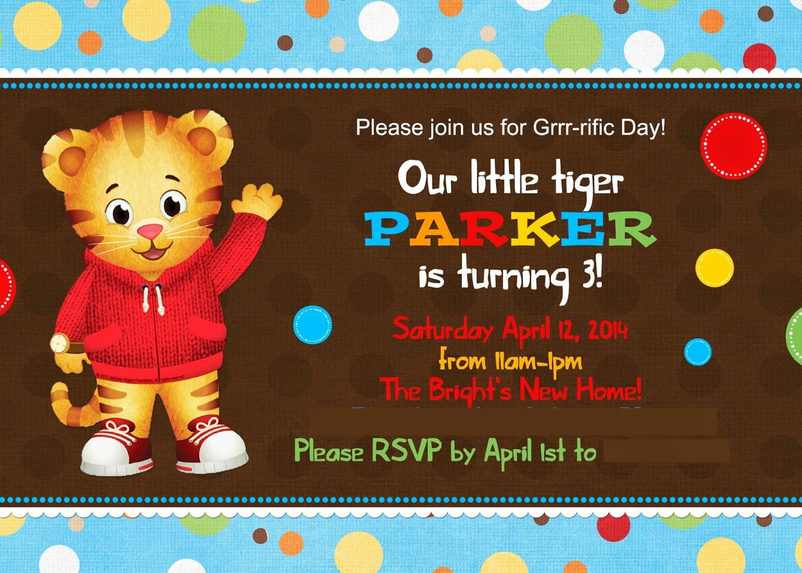 The Cherry On Top Events Party Blog: A Daniel Tiger\'s 3rd Birthday ...