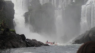 guazu Falls – Boat Trip – Charging the Falls Iguazu National Park, Argentina.