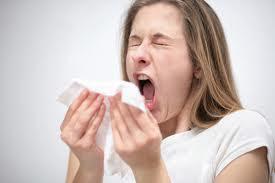 Jessica sneezing