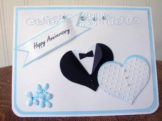Paper panacea happy anniversary card