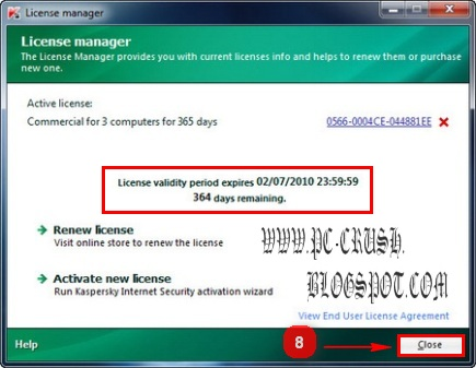 cara menggunakan key kaspersky 2010 6