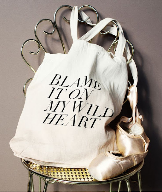 Blame It On My Wild Heart Tote Bag by Fieldguided
