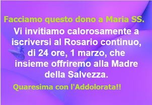 ┊☆┊★ Santo Rosario continuo, di 24 ore, 1 marzo, Quaresima con l'Addolorata