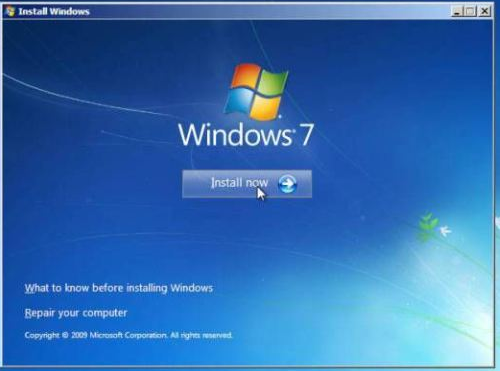 how to create system reserved partition windows 7