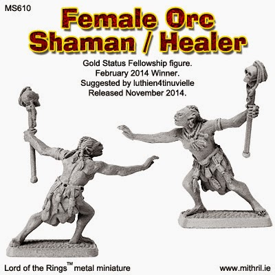 Female Orc Shaman Healer Mithril Miniature