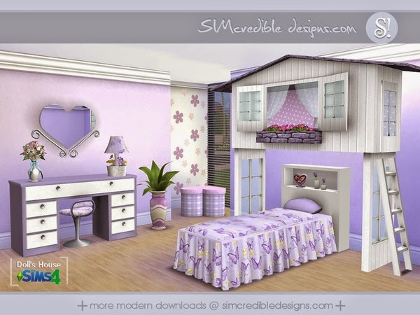 My sims 4 blog simcredible 39 s dolls house bedroom set - Sims 3 babyzimmer ...