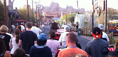 Lightning and Mater lead morning entry parade in Cars Land