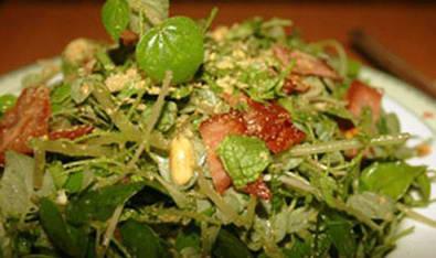 Cách làm món Rau càng cua trộn thịt xông khói ngon