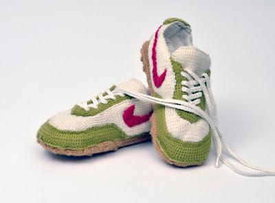 Вязаные кроссовки фото