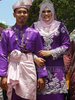 pengantin lelaki dan perempuan tema purple