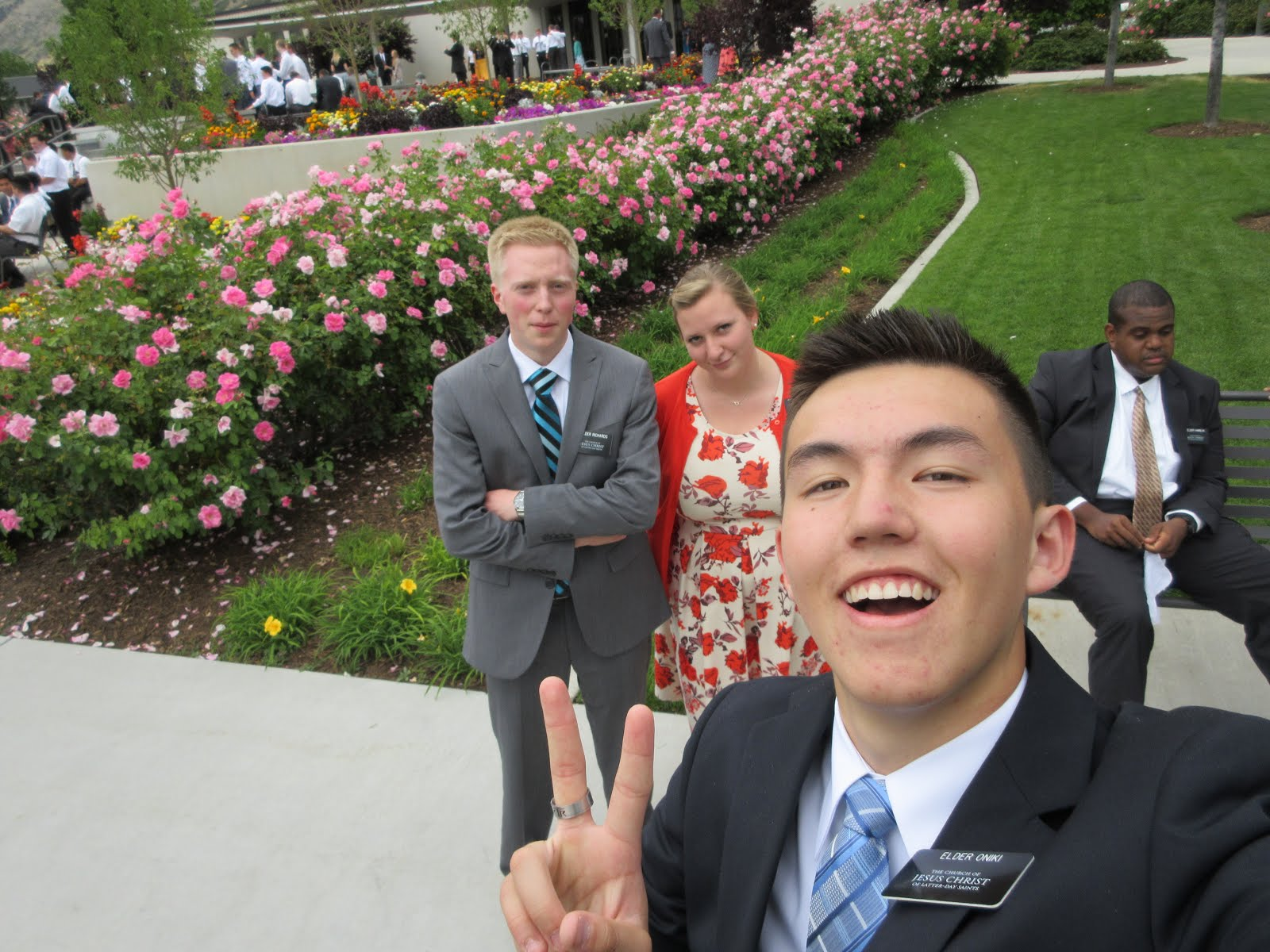 Elder Brian Richards, Sister Ellen Richards and Elder Oniki