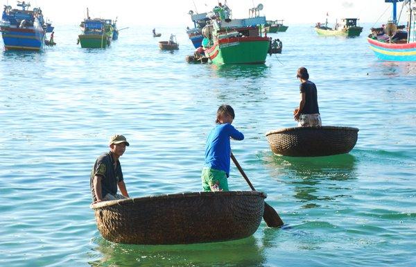 Thúng chai là phương tiện đánh bắt gần bờ