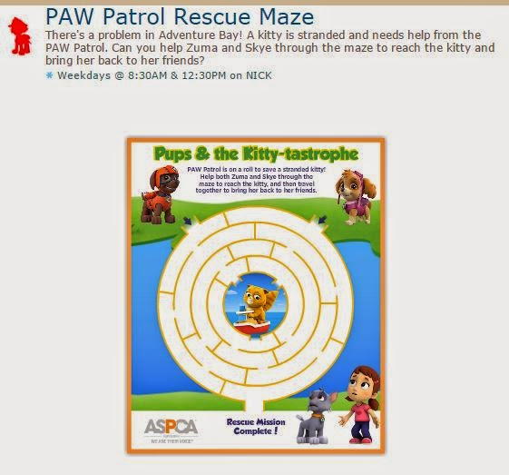 Paw Patrol Free Printable Rescue Maze. | Oh My Activities for Kids!