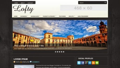 Lofty - Free Blogger Template