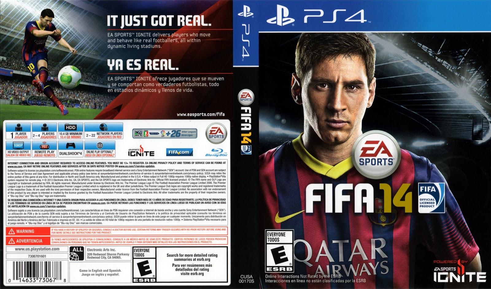 Capa Fifa 14 PS4